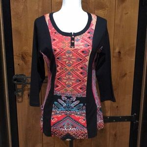 NWT Parsley & Sage Aztec Print Tunic